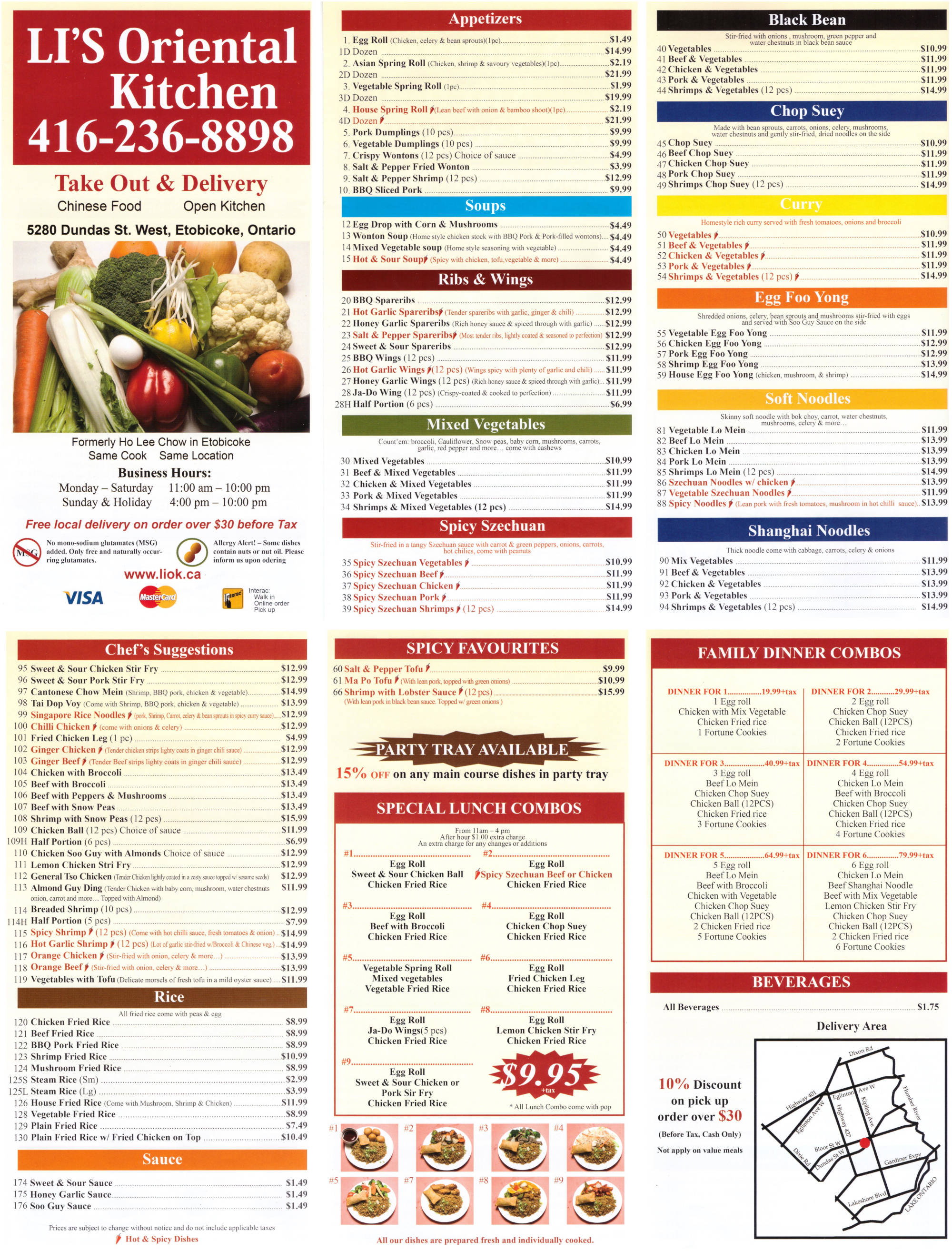 Li S Oriental Kitchen Etobicoke Menu